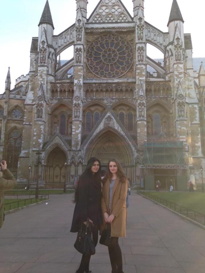 Rav and I outside Westminster Abby